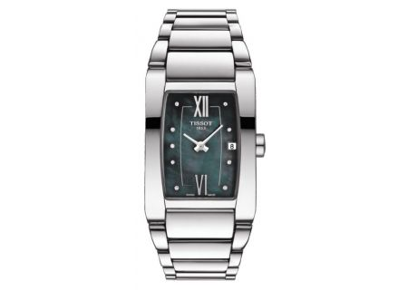 Tissot Generosi-T Stainless Steel And Black Mother of Pearl Womens Watch  - T1053091112600