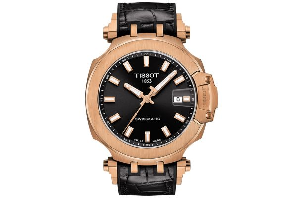 Large image of Tissot T-Race Swissmatic Rose Gold Stainless Steel Mens Watch - T1154073705100