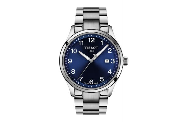 Large image of Tissot Gent XL Classic Blue Dial Quartz Mens Watch - T1164101104700