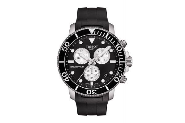 Large image of Tissot Seastar 1000 Black Dial Chronograph Mens Watch - T1204171705100