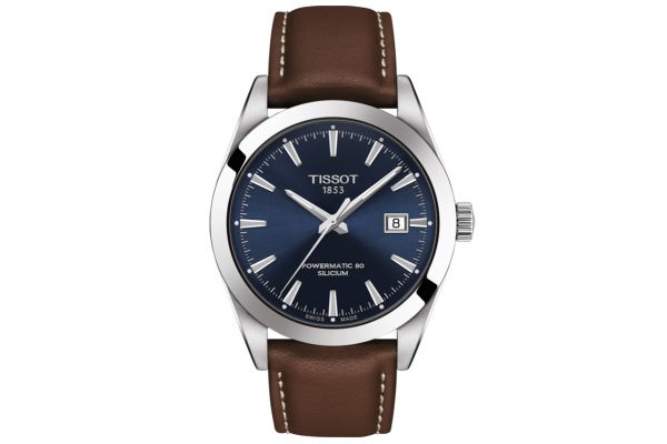 Large image of Tissot Gentleman Powermatic 80 Silicium Mens Watch - T1274071604100