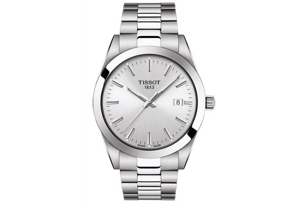 Large image of Tissot Gentleman Silver Mens Watch - T1274101103100