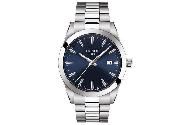 Large image of Tissot Gentleman Blue Mens Watch - T1274101104100