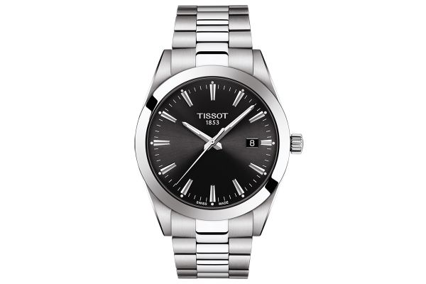 Large image of Tissot Gentleman Black Mens Watch - T1274101105100