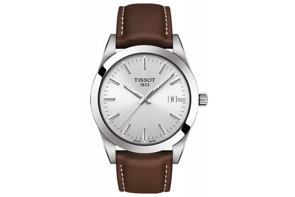 Large image of Tissot Gentleman Silver Mens Watch - T1274101603100