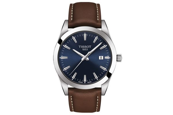 Large image of Tissot Gentleman Blue Mens Watch - T1274101604100