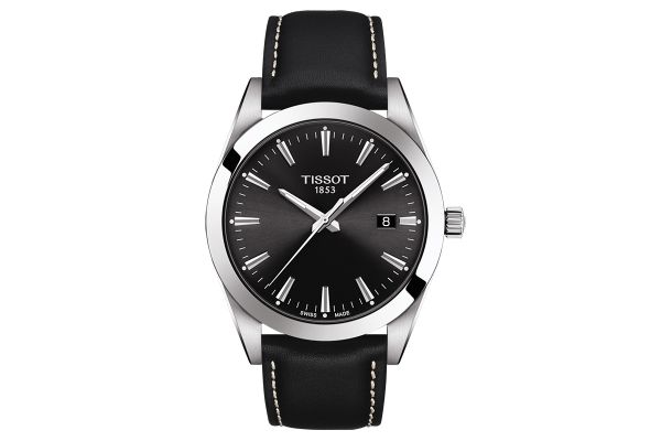 Large image of Tissot Gentleman Black Mens Watch - T1274101605100