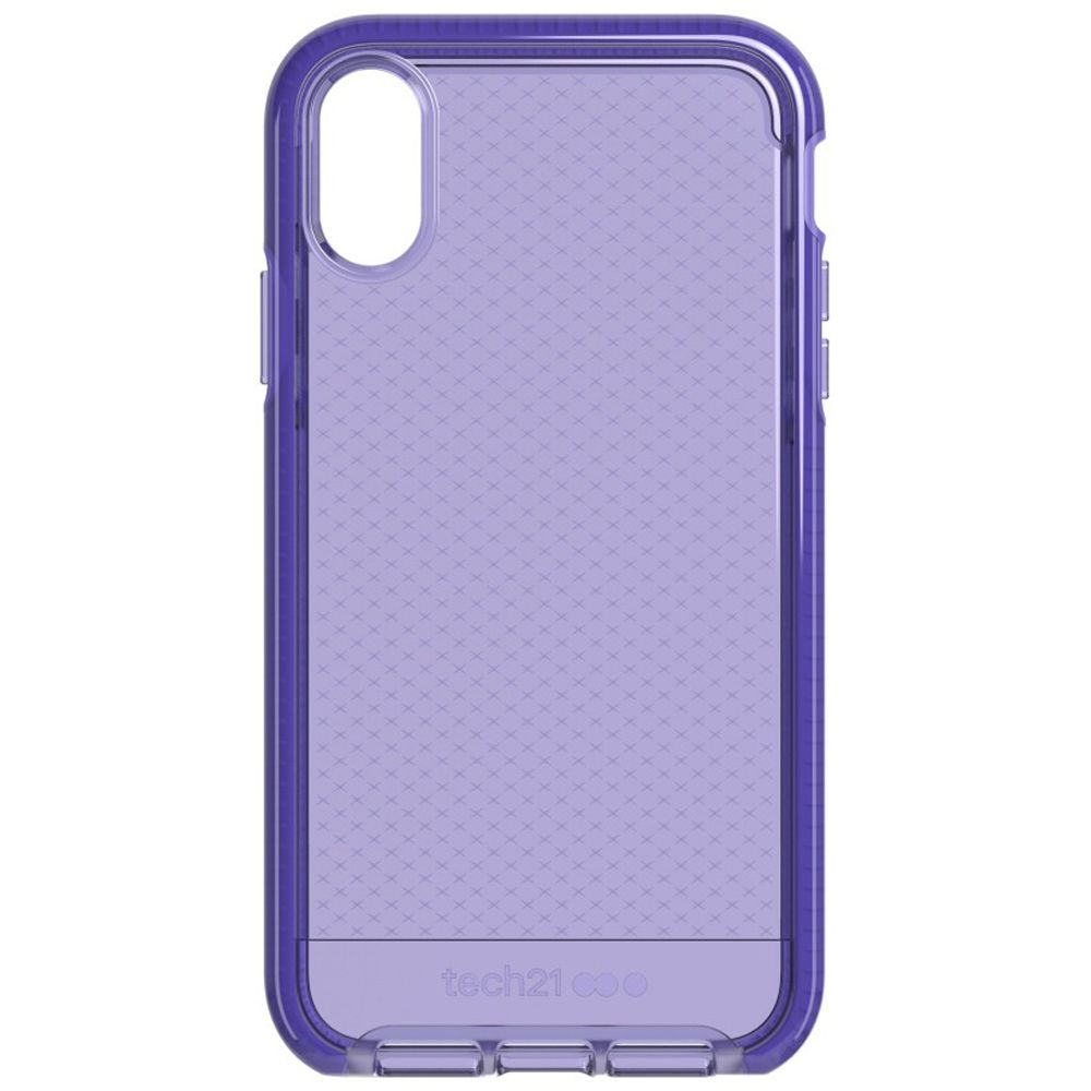 in stock 19f61 f2833 Tech21 Evo Check Ultra Violet Case for Apple iPhone XR