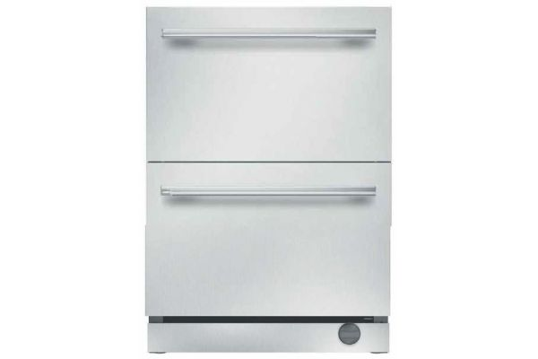 """Thermador 24"""" Masterpiece Stainless Steel Under-Counter Refrigerator Drawers - T24UC910DS"""