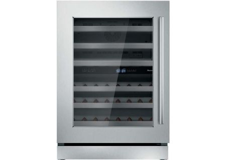 "Thermador 24"" Masterpiece Stainless Steel Left-Hinge Wine Refrigerator - T24UW910LS"