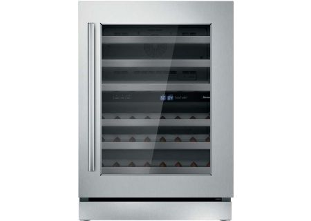 """Thermador 24"""" Masterpiece Stainless Steel Right-Hinge Wine Refrigerator - T24UW910RS"""