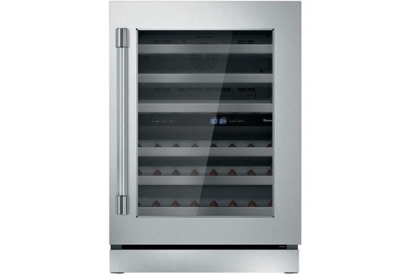 "Thermador 24"" Professional Stainless Steel Right-Hinge Wine Refrigerator - T24UW920RS"