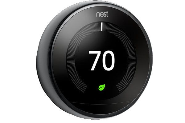 Large image of Google Nest Mirror Black 3rd Gen. Learning Smart Thermostat - T3018US