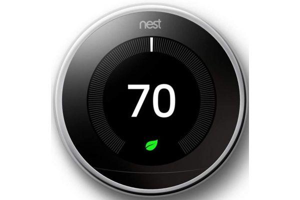 Large image of Google Nest Polished Steel 3rd Gen. Learning Smart Thermostat - T3019US
