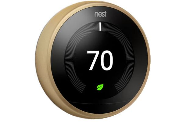 Nest Brass 3rd Gen. Learning Smart Thermostat - T3032US