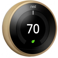 Nest Brass 3rd Gen. Learning Smart Thermostat