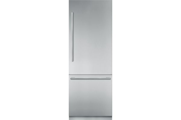 """Thermador 30"""" Stainless Steel Built-In Bottom-Freezer Refrigerator - T30BB910SS"""