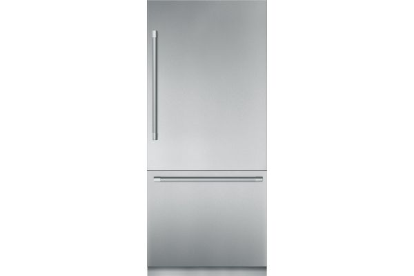"""Large image of Thermador 36"""" Stainless Steel Built-In Bottom-Freezer Refrigerator - T36BB920SS"""