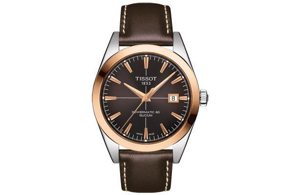 Large image of Tissot Gentleman Powermatic 80 Silicium 18K Rose Gold Mens Watch - T9274074629100