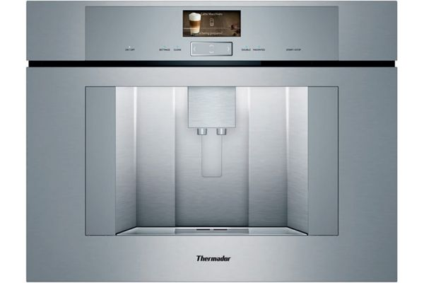"""Large image of Thermador 24"""" Masterpiece & Professional Series Stainless Steel Built-In Coffee Machine - TCM24TS"""