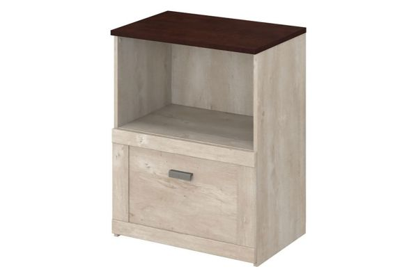 Large image of Bush Furniture Townhill Lateral Washed Gray File Cabinet - TNF124WM2-03