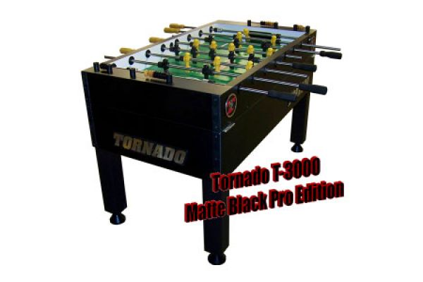 Tornado T-3000 Black Foosball Table - TPYMSTP3BL