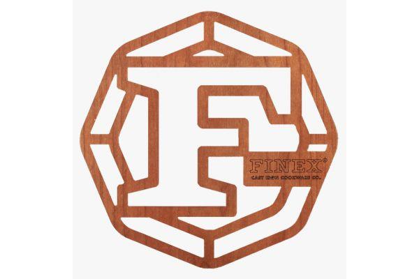 """Large image of Finex 8"""" Wood Trivet - TR8-10001"""