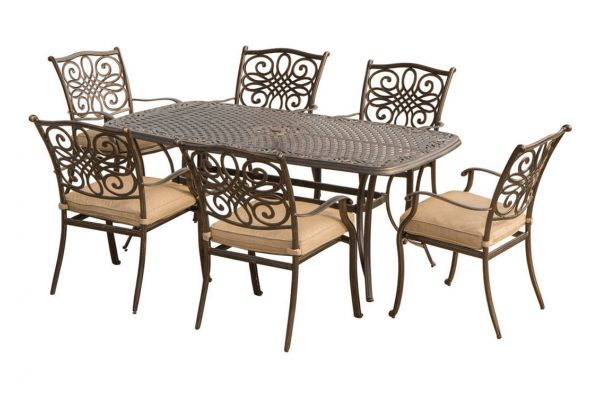 Large image of Hanover Traditions 7-Piece Dining Set - TRADITIONS7PC
