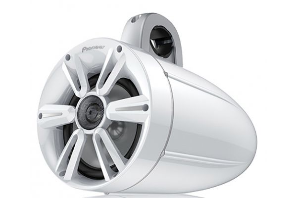 "Large image of Pioneer 7.7"" IPX7 Certified Tower Speaker With Built-In RGB LED Lighting - TS-ME770TSW"
