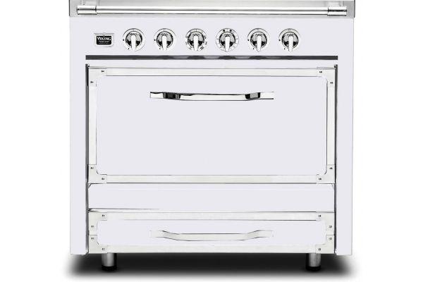 """Large image of Viking 36"""" Tuscany Series Antique White Dual Fuel Range - TVDR3602GAW"""