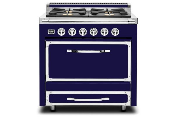 "Viking 36"" Tuscany Series Dark Blue Dual Fuel Range - TVDR3604BDB"