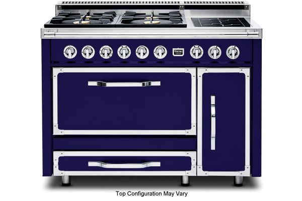 "Viking 48"" Tuscany Series Dark Blue Dual Fuel Range - TVDR4802GIDB"