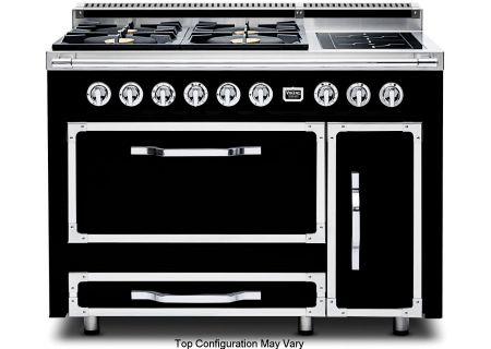 """Viking 48"""" Tuscany Series Graphite Black Dual Fuel Range - TVDR4802GIGB"""
