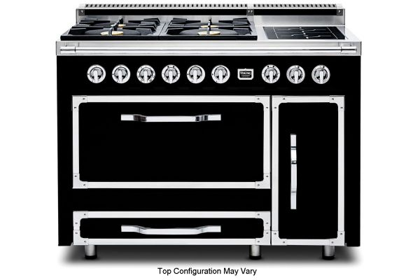 "Viking 48"" Tuscany Series Graphite Black Dual Fuel Range - TVDR4804FGB"