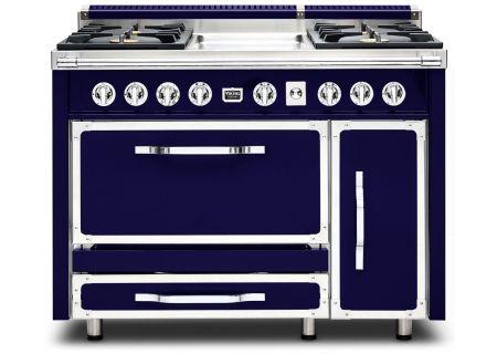 "Viking 48"" Tuscany Series Dark Blue Dual Fuel Range - TVDR4804GDB"