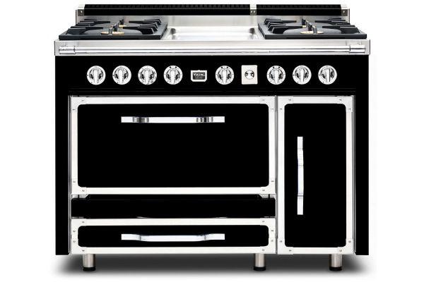 """Viking 48"""" Tuscany Series Graphite Black Dual Fuel Range - TVDR4804GGB"""