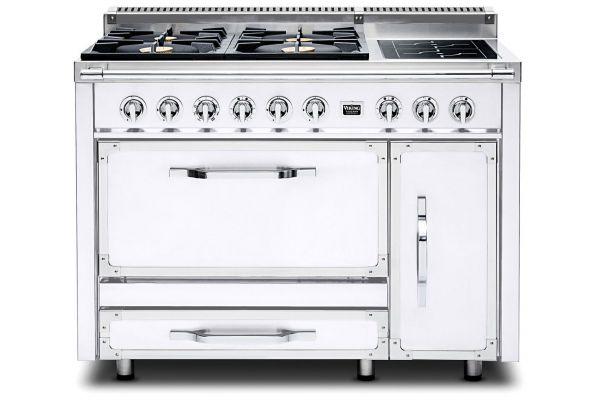 """Large image of Viking 48"""" Tuscany Series Pro-Style Antique White Dual Fuel Range - TVDR4804IAW"""