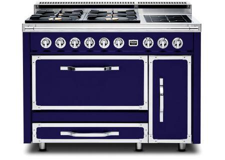 "Viking 48"" Tuscany Series Pro-Style Dark Blue Dual Fuel Range - TVDR4804IDB"