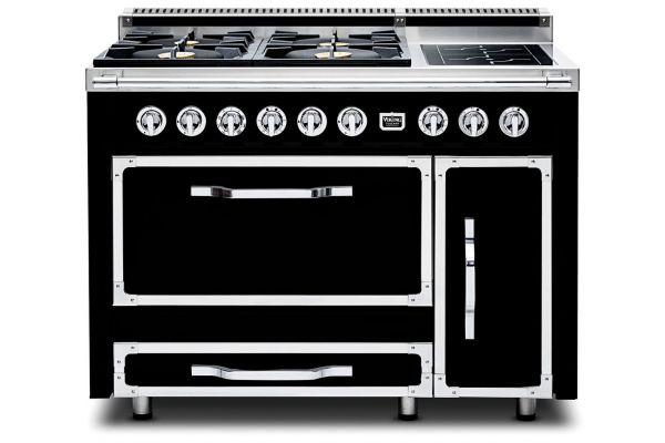 "Large image of Viking 48"" Tuscany Series Pro-Style Graphite Black Dual Fuel Range - TVDR4804IGB"
