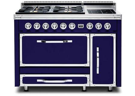 "Viking 48"" Tuscany Series Pro-Style Dark Blue Dual Fuel Range - TVDR4806BDB"