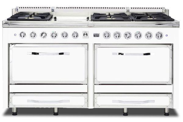 """Large image of Viking 66"""" Tuscany Series Antique White Dual Fuel Range - TVDR6606GAW"""