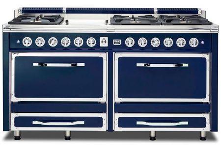 "Viking 66"" Tuscany Series Pro-Style Dark Blue Dual Fuel Range - TVDR6606GDB"