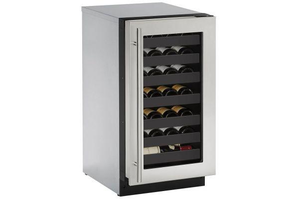 "Large image of U-Line 2000 Series 18"" Stainless Frame Wine Refrigerator - U-2218WCS-00B"