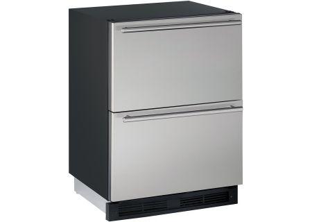 "U-Line 24"" Stainless Steel Refrigerator Drawers - U-1224DWRS-00B"