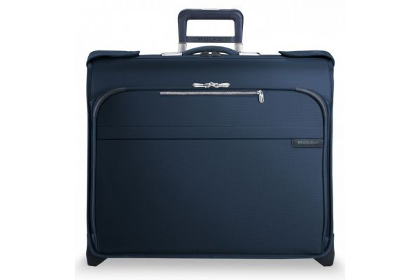 Large image of Briggs & Riley Navy Deluxe Wheeled Garment Bag - U176-5