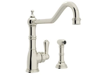Rohl Polished Nickel Perrin & Rowe Single Lever Kitchen Faucet - U47472PN