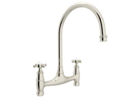 Rohl Polished Chrome Perrin & Rowe Bridge Kitchen Faucet - U.4790X/APC-2