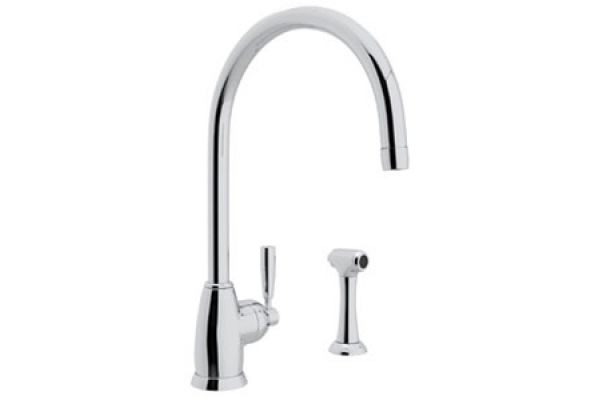 Rohl Polished Chrome Perrin & Rowe Mimas Contemporary Kitchen Faucet - U.4846LS/APC-2
