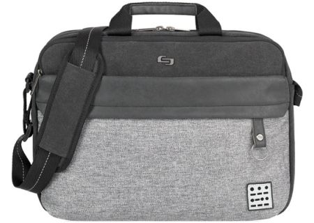 Solo Grey Urban Collenction Venture Briefcase - UBN340-4