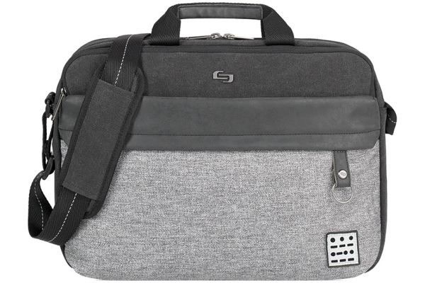 Large image of Solo Grey Urban Collenction Venture Briefcase - UBN340-4